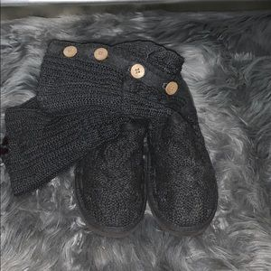 Grey button up UGG boots